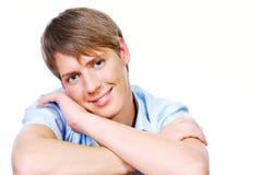 Visage mâle d'adolescent mignon image libre de droits