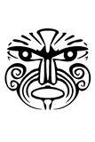 tatouage maori de visage illustration de vecteur. Black Bedroom Furniture Sets. Home Design Ideas