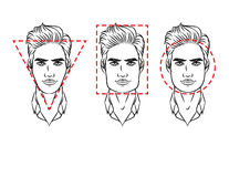 Visage masculin de divers types d'aspect Photos libres de droits
