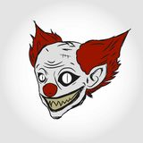 visage mauvais de clown Images stock