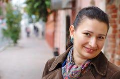 Visage mignon de brunette Images libres de droits