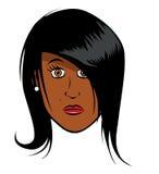 Visage noir de fille Images libres de droits