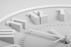 Visage noir et blanc de l'horloge 12 heures Photo stock