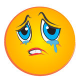 Visage pleurant Photo libre de droits