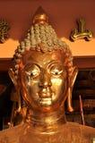 Visage principal en laiton de Bouddha Photo stock