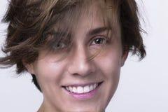 visage proche s vers le haut de femme photos libres de droits