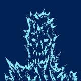 Visage satanique de monstre avec les épines pointues Illustration de vecteur illustration libre de droits