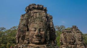 Visage sculpté dans le temple photographie stock libre de droits