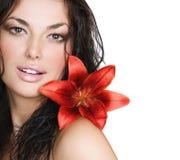 Visage sexy de fille Photographie stock libre de droits