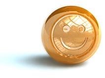 Visage souriant d'or Photo libre de droits