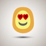 Visage souriant d'emoji créatif dans l'amour Photos stock