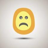 Visage souriant d'emoji créatif malheureux et dans la mauvaise humeur Photographie stock libre de droits