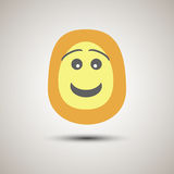 Visage souriant d'emoji créatif souriant et heureux Photographie stock libre de droits