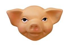 Visage souriant de porc - d'isolement sur le blanc Image stock