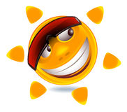 Visage souriant drôle Photographie stock libre de droits