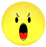 Visage souriant fâché Photo stock