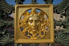 Visage sur Royal Palace de la porte de Turin Photo libre de droits
