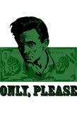 Visage sur un billet d'un dollar, argent Images libres de droits