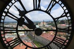 Visage transparent d'horloge Photos stock