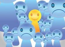 Visage unique heureux Photographie stock libre de droits