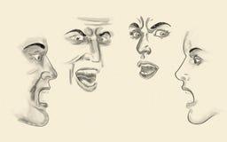 Visages illustration stock