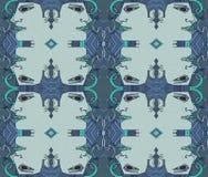 Visages bleus expressifs de résumé Retrait de main Seul arbre congel? illustration stock