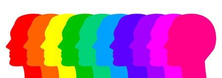 Visages colorés Image libre de droits