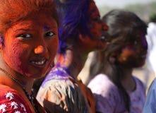 Visages colorés Photographie stock libre de droits