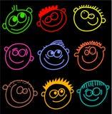 Visages colorés illustration de vecteur