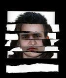 Visages déchirés Photo libre de droits
