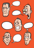 Visages d'émotion avec l'ensemble de vecteur de ballons de la parole illustration libre de droits
