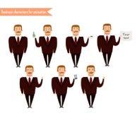 Visages d'émotion Emoji font face à des icônes illustration stock