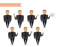 Visages d'émotion Emoji font face à des icônes illustration libre de droits