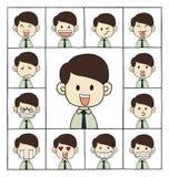 Visages d'émotions d'hommes Image libre de droits