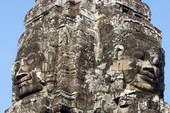 Visages d'Angkor photos stock