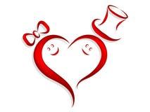 Visages dans l'amour illustration de vecteur