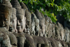 Visages de Bayon Photographie stock