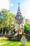 4 visages de Brahma chez Sala Keoku, le parc de l'escroquerie fantastique géante Photo libre de droits