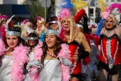 Visages de carnaval Photo libre de droits
