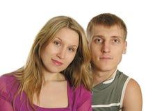 Visages de couples Image libre de droits