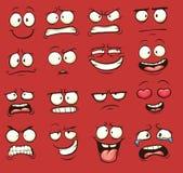 Visages de dessin animé illustration de vecteur