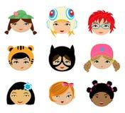 Visages de filles réglés Images libres de droits