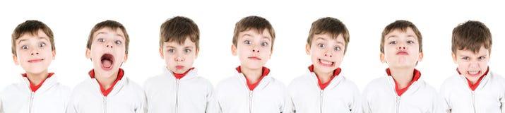 Visages de garçon Photos stock
