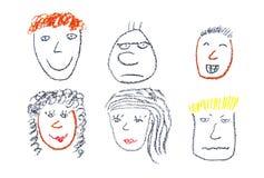 Visages de gens illustration libre de droits
