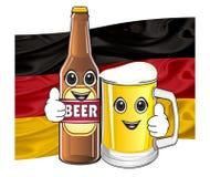Visages de geste d'exposition de bière Image libre de droits