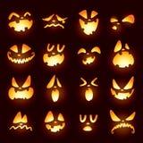 Visages de lanterne de Jack O Image libre de droits