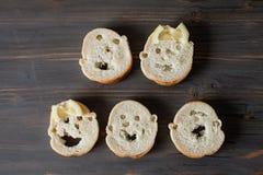 Visages de pain Photographie stock libre de droits