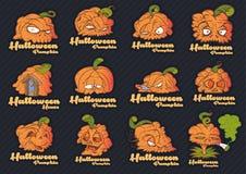 Visages de potiron de Halloween photos libres de droits