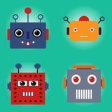 Visages de robots réglés illustration stock