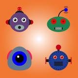 Visages de robots réglés Image stock